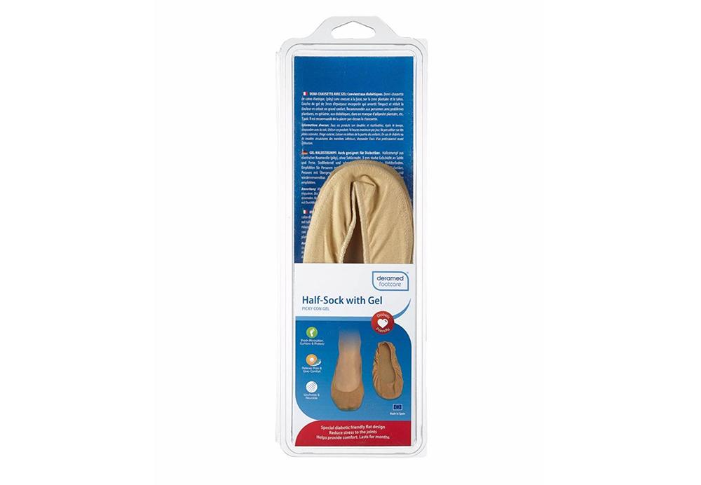 Half-Sock With Gel Size W-S